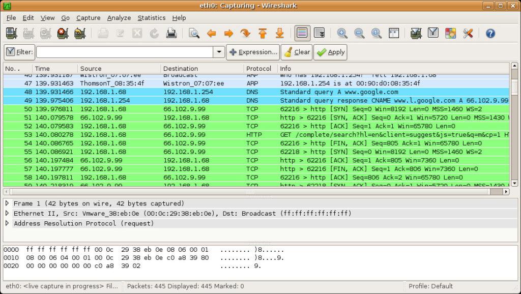 wiresharkonubuntu1